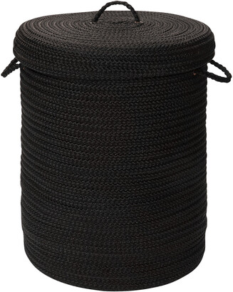 Colonial Mills Simply Home Solid Black Hamper With Lid