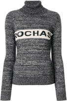 Rochas logo turtleneck jumper