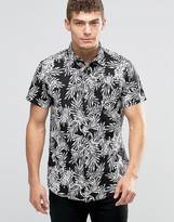 Jack and Jones Short Sleeve Shirt with Floral All Over Print