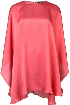 Voz Chiffon Capelet blouse