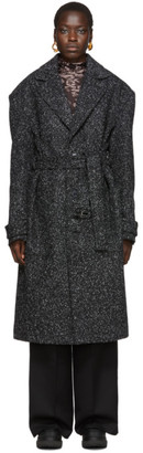 Eckhaus Latta Black Static Coat