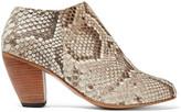 Dieppa Restrepo Camilla python ankle boots