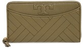Tory Burch Women's Quilted Lambskin Continental Wallet - Green