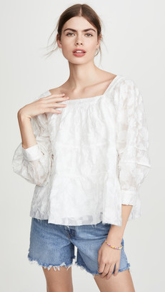 Moon River White Blouse