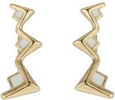 Sam Edelman V Enamel Crawler Earrings