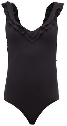 Melissa Odabash Seville Ruffle-trimmed Swimsuit - Womens - Black