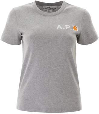 A.P.C. X Carhartt WIP Logo Printed T-Shirt