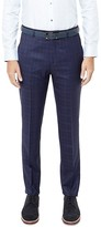 Ted Baker Hikickt Debonair Checked Wool Regular Fit Trousers