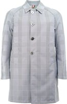 Thom Browne reversible checked coat - men - Cotton/Polyester/Polyethylene - 0