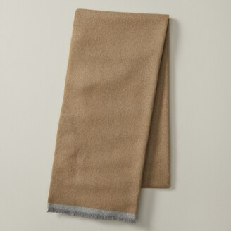 Indigo Mens Sustainable Style Eco Scarf Solid Camel