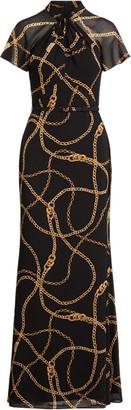 Ralph Lauren Georgette Twisted-Neck Dress
