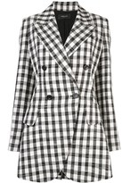 Derek Lam Double Breasted Plaid Blazer