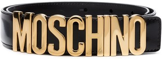 Moschino Logo-Plaque Buckled Belt