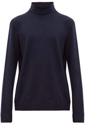Acne Studios Kage Roll Neck Wool Blend Sweater - Mens - Navy