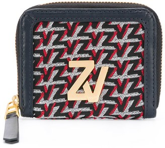 Zadig & Voltaire Embroidered Leather Coin Purse