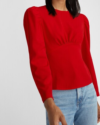 Express Seamed Puff Sleeve Top