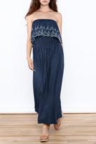 Elan Denim Maxi Dress