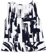 Aqua Girls' Abstract Print Top, Big Kid - 100% Exclusive