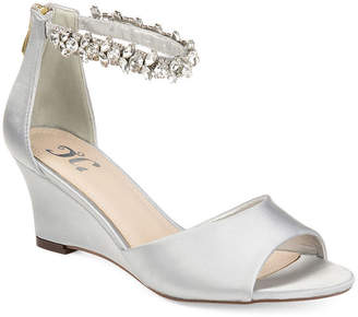Journee Collection Womens Connor Pumps Zip Open Toe Wedge Heel