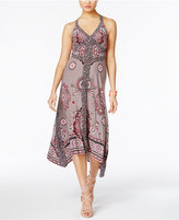 INC International Concepts Printed Handkerchief-Hem Maxi Dress, Only at Macy's
