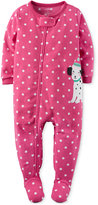 Carter's 1-Pc. Dot-Print & Dalmatian Footed Pajamas, Baby Girls (0-24 months)