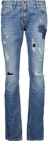 Just Cavalli Mid-rise distressed straight-leg jeans
