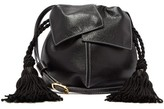 Hillier Bartley Flower Tasselled Mini Leather Cross-body Bag - Womens - Black