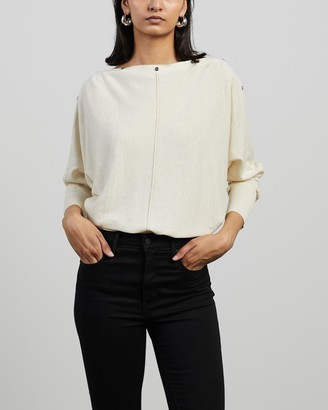 AllSaints Women's White Jumpers - Eli Jumper - Size S at The Iconic