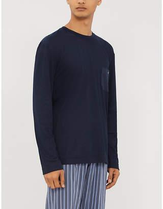 Zimmerli Long-sleeved cotton-blend T-shirt