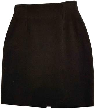 Martine Sitbon Black Wool Skirt for Women
