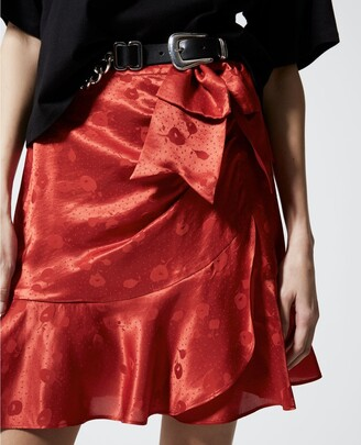 The Kooples Jacquard short skirt with frills