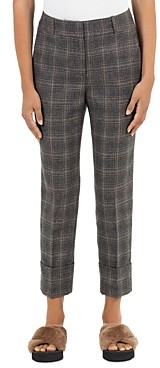 Peserico Wool Blend Plaid Pants