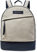 WANT Les Essentiels Kastrup Nylon and Leather-Trimmed Faux Suede Backpack