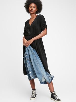 Gap Corduroy Wrap-Front Midi Dress