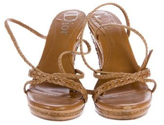 Christian Dior Woven Leather Sanddals