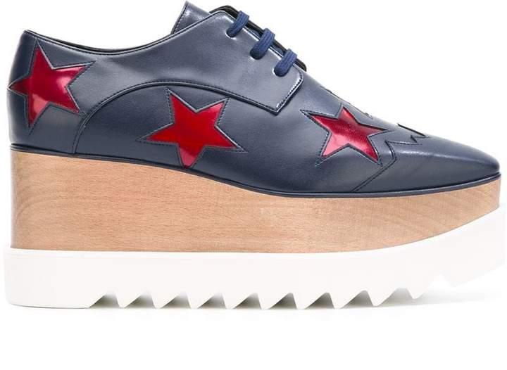 Stella McCartney ruby star Elyse flatform shoes