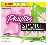 Playtex Sport Plastic Applicator Unscented Super Plus Absorbency Tampons 36-ct.