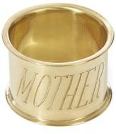 Sir/Madam SirMadam Mother Brass Napkin Ring