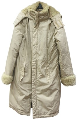Woolrich Beige Cotton Coat for Women