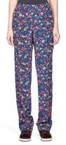 Kenzo Tanami Silk Floral-Print Pants