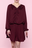 Do & Be Burgundy Lace-Up Dress