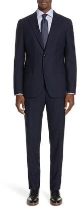 Boglioli Milano Slim Fit Solid Wool Suit