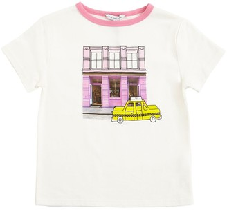 Little Marc Jacobs Taxi Print Cotton Jersey T-shirt