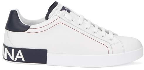 Dolce & Gabbana Portofino White Leather Trainers