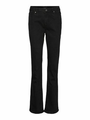Vero Moda Women's VMSAGA HR S Flared Jeans GU117 GA NOOS Denim Trousers