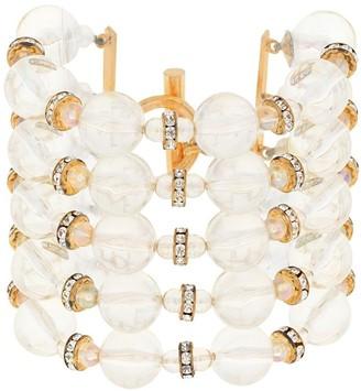 Chanel Pre Owned 1980s CC logos rhinestone bracelet