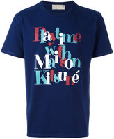 MAISON KITSUNÉ printed text T-shirt