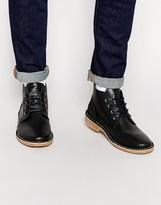 Jack & Jones Gene Leather Desert Boots - Black