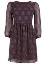Select Fashion Fashion Womens Red Tile Print 3Qtr Slv Chiffn Drs - size 10