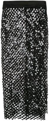 AMIR SLAMA sequinned skirt